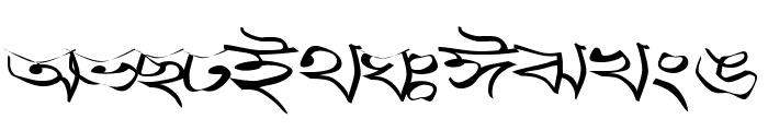 Progoty Warp Font UPPERCASE