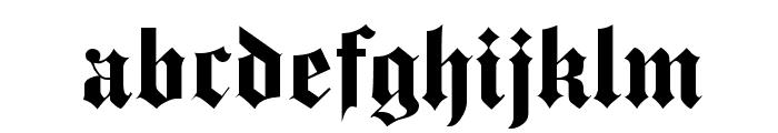 ProgressiveText Font LOWERCASE