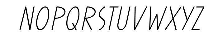 Prohandy Italic Font UPPERCASE