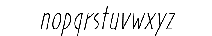 Prohandy Italic Font LOWERCASE