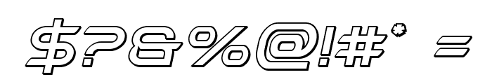 Promethean Outline Italic Font OTHER CHARS
