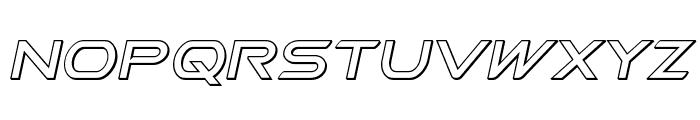 Promethean Outline Italic Font LOWERCASE