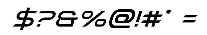 Promethean Super-Italic Font OTHER CHARS
