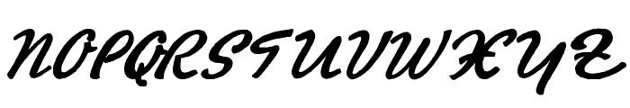 Promotion Script Font UPPERCASE