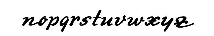 Promotion Script Font LOWERCASE