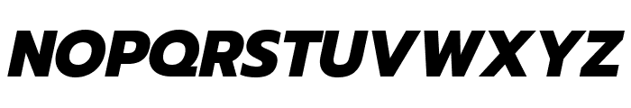 Prompt ExtraBold Italic Font UPPERCASE
