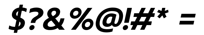 Prompt SemiBold Italic Font OTHER CHARS