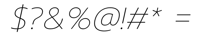 Prompt Thin Italic Font OTHER CHARS