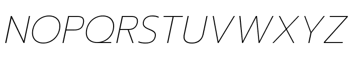Prompt Thin Italic Font UPPERCASE