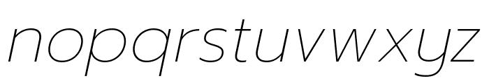 Prompt Thin Italic Font LOWERCASE