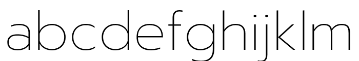 Prompt Thin Font LOWERCASE