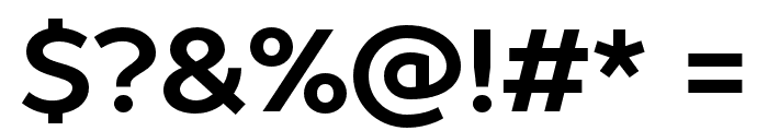 ProstoSans-Bold Font OTHER CHARS