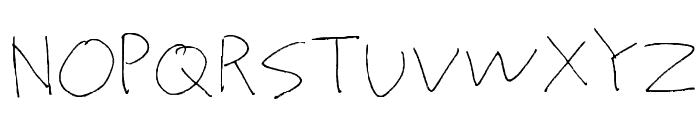 Proto Uncertain Font UPPERCASE