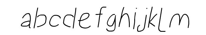 Proton Bold Italic Font LOWERCASE