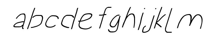 Proton ExtraBold Extended SuperItalic Font LOWERCASE