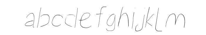 Proton Hairline Italic Font LOWERCASE