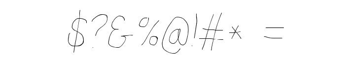 Proton Light Condensed Italic Font OTHER CHARS