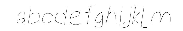 Proton Light Extended Italic Font LOWERCASE