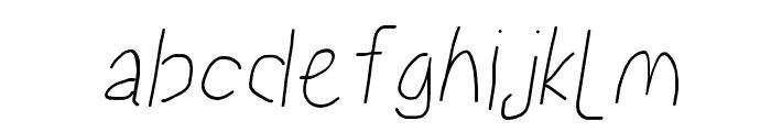Proton SemiBold Condensed Italic Font LOWERCASE