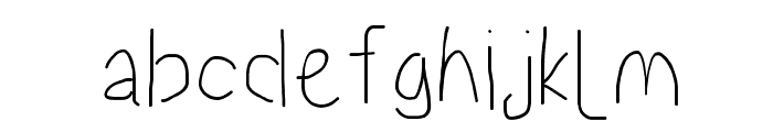 Proton SemiBold Condensed Font LOWERCASE