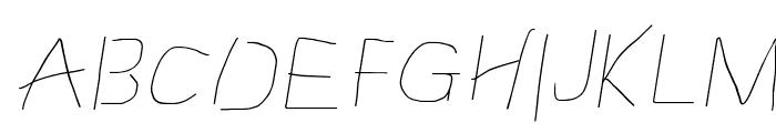 Proton Semilight Extended Italic Font UPPERCASE