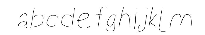 Proton Semilight Extended Italic Font LOWERCASE