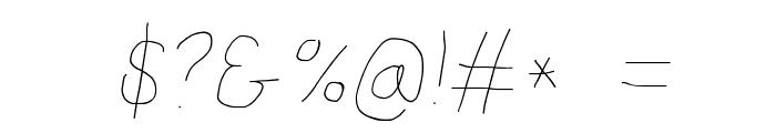 Proton Semilight Italic Font OTHER CHARS
