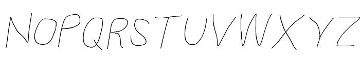 Proton Semilight Italic Font UPPERCASE