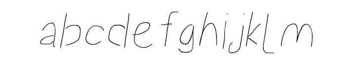 Proton Semilight Italic Font LOWERCASE