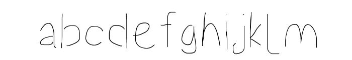 Proton Semilight Font LOWERCASE