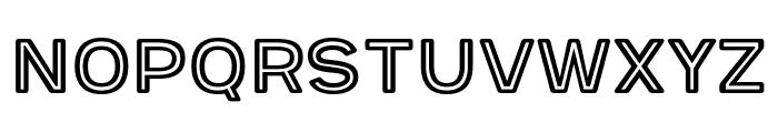 Provoke Inline-Rounded Font UPPERCASE