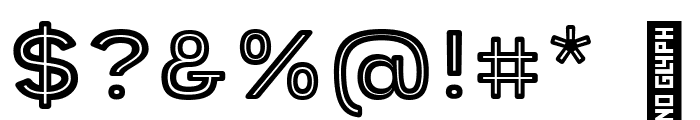 Provoke Inline-Thin-Rounded Font OTHER CHARS