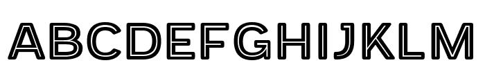 Provoke Inline-Thin-Rounded Font UPPERCASE