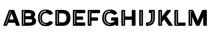 Provoke Partial-Inline-Thin-Rounded Font UPPERCASE
