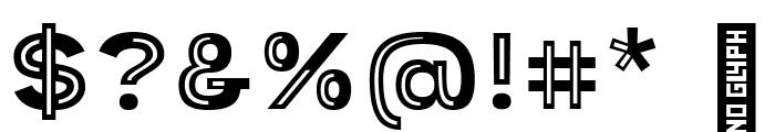 Provoke Partial-Inline Font OTHER CHARS
