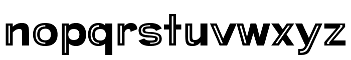 Provoke Partial-Inline Font LOWERCASE