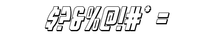 Prowler 3D Italic Font OTHER CHARS