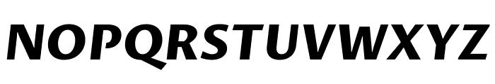 Proza Libre ExtraBold Italic Font UPPERCASE