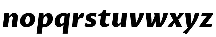 Proza Libre ExtraBold Italic Font LOWERCASE