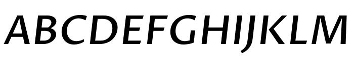 Proza Libre Medium Italic Font UPPERCASE