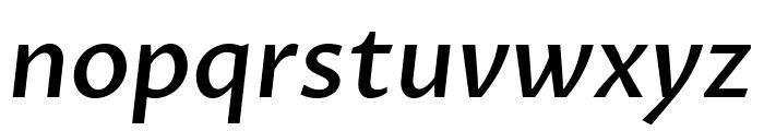 Proza Libre Medium Italic Font LOWERCASE