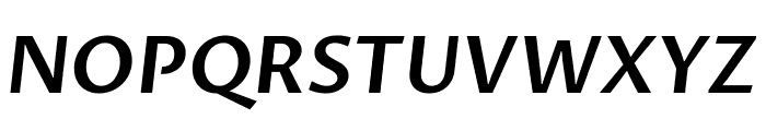 Proza Libre SemiBold Italic Font UPPERCASE