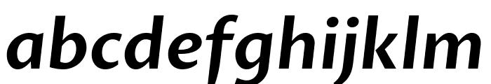 Proza Libre SemiBold Italic Font LOWERCASE