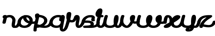 Prudent Bold Font LOWERCASE