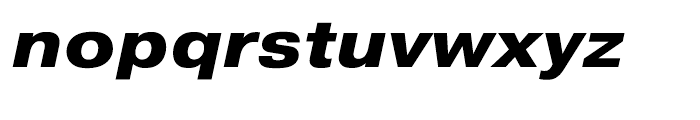 Pragmatica Extended Extra Bold Oblique Font LOWERCASE