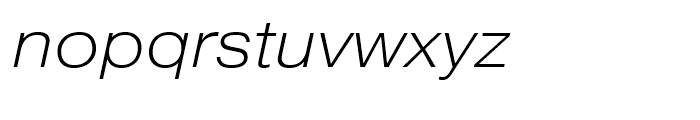 Pragmatica Extended Extra Light Font LOWERCASE