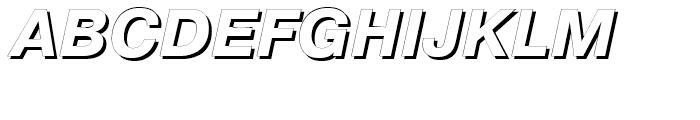 Pragmatica Shadow Italic Font UPPERCASE