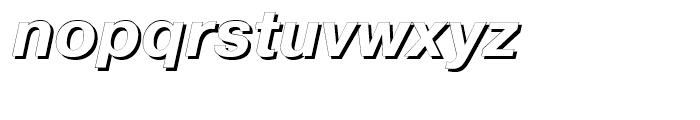 Pragmatica Shadow Italic Font LOWERCASE