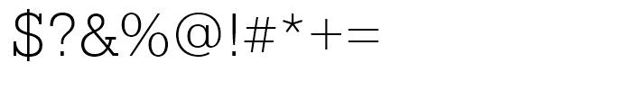 Pragmatica Slabserif Extra Light Font OTHER CHARS