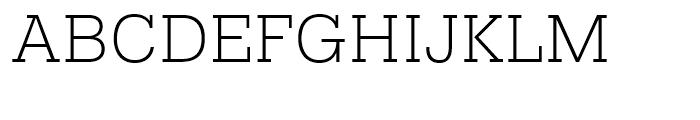 Pragmatica Slabserif Extra Light Font UPPERCASE
